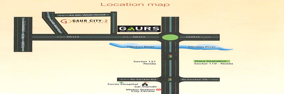 Gaur City Center Office Spaces in Noida Extension